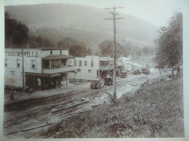This picture is heading into Luzerne. I am guessing the current Trucksville Animal Hospital would be somewhere on right