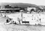 Pittston Pool - Facing west. Located on Market Street with the Water Street Bridge in the background