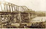 New Water Street bridge in Pittston being built – 1914