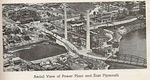 Arial view of power plant and East Plymouth