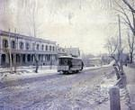 First electric street car arrives in Wilkes-Barre - photo of street car on North Main Street dec 13 1887