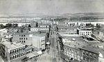 Public Square looking from the top of the old Luzerne County Courthouse looking down West Market Street towards the Kingston Flats. Photo taken in 1887