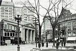Public Square south and west sides looking towards West Market Street 1922
